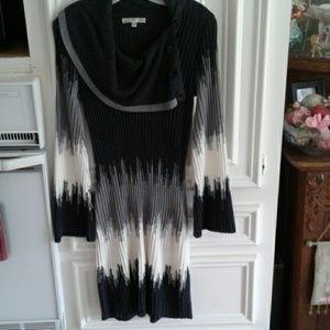 Sweater dress by Sandra Darren